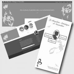 Amandine Pulka – Identité visuelle, site vitrine et dépliant
